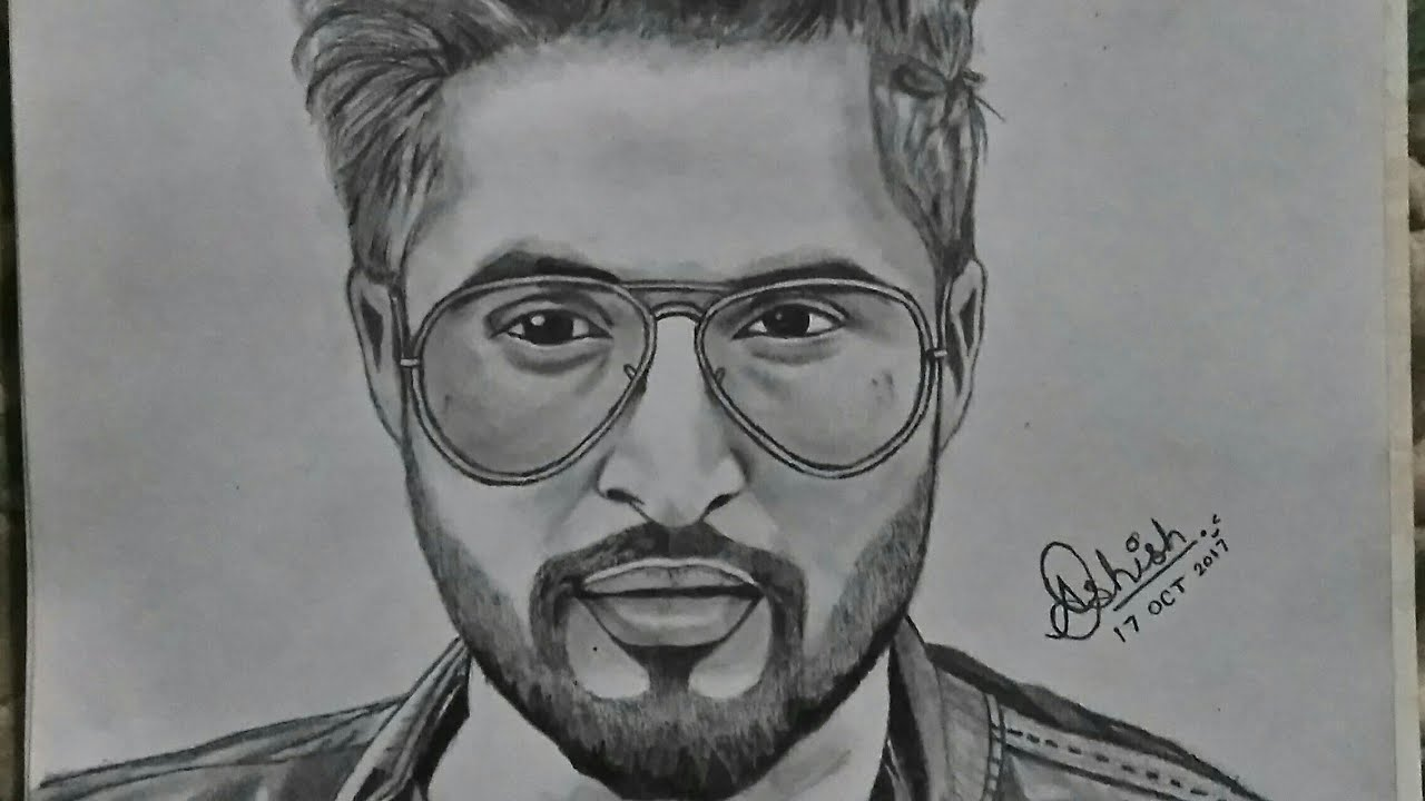 Easy way of drawing sketch of jassi gill