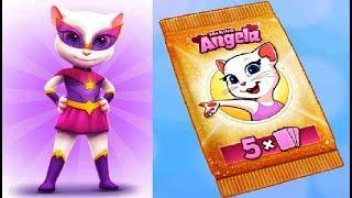 Новое в игре Моя Говорящая Анджела новая одежда новые наклейки видео для детей #Мобильные игры
