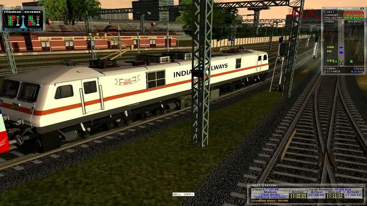 MSTS Train Simulator Andhra Pradesh express Indian ...