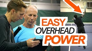 Easy Overhead POWER - tennis lesson