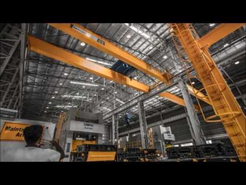 Watch ElectroMech crane live in action at the Bajaj Auto Press Shop!