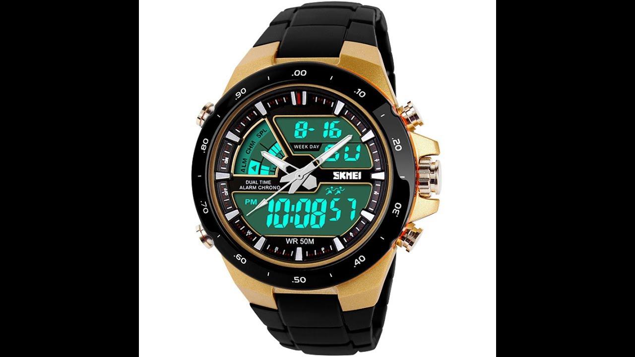 9ff4f3bee35 Relógio Skmei 1016 Resistente a água - YouTube