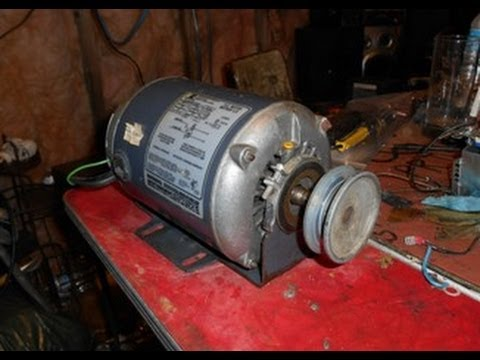 Emerson 1/2 hp electric motor - YouTube