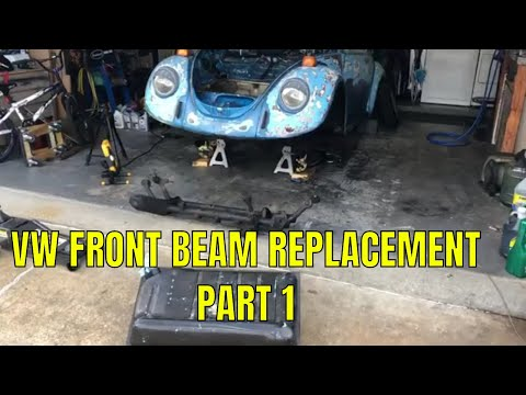 1973 VW Bug Ball Joint Beam Removal and Replacement - Part 1