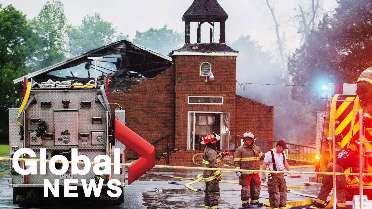 Deputy's son charged in connection with three black church fires in Louisiana