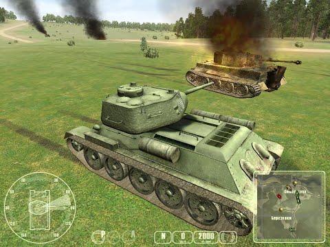 """T-34 против «Тигра» ч.6 - """"T-34 Vs Tiger Tank"""" Прохождение игры:  ч.6 Обходной манёвр"""