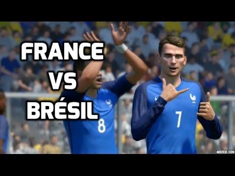 France vs Brésil FIFA 17 Difficulté Légende Gameplay PC