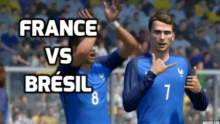 France vs Brésil FIFA 17 Difficulté Légende Gameplay PC