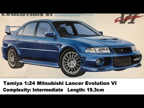 Tamiya 1:24 Mitsubishi Lancer Evolution VI Kit Review