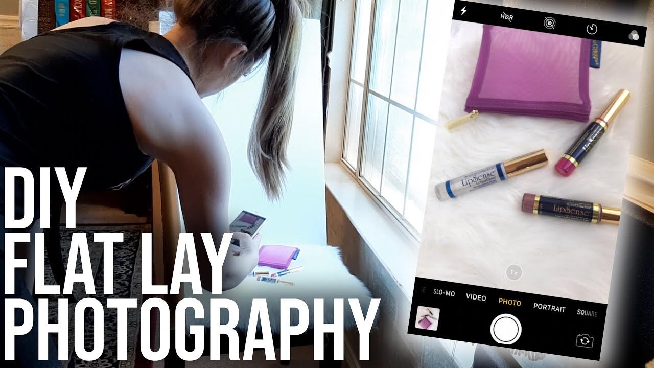 DIY FLAT LAY PHOTOGRAPHY ON AN IPHONE | How to Set Up Easy Lighting + Editing Tips