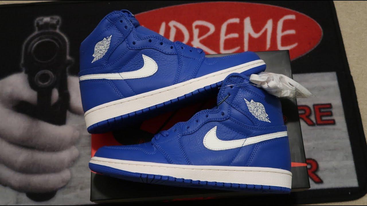 effe524338b90a Air Jordan 1 Retro High OG  Hyper Royal  Sneaker Unboxing - YouTube
