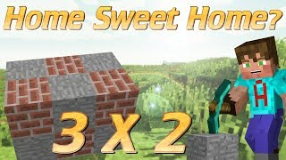 Minecraft | How to make a tiny house | 3x2 house in minecraft NO CHEATING | Micro minecraft tutorial
