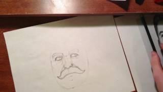 Speed drawing - portrait of Joseph Stalin