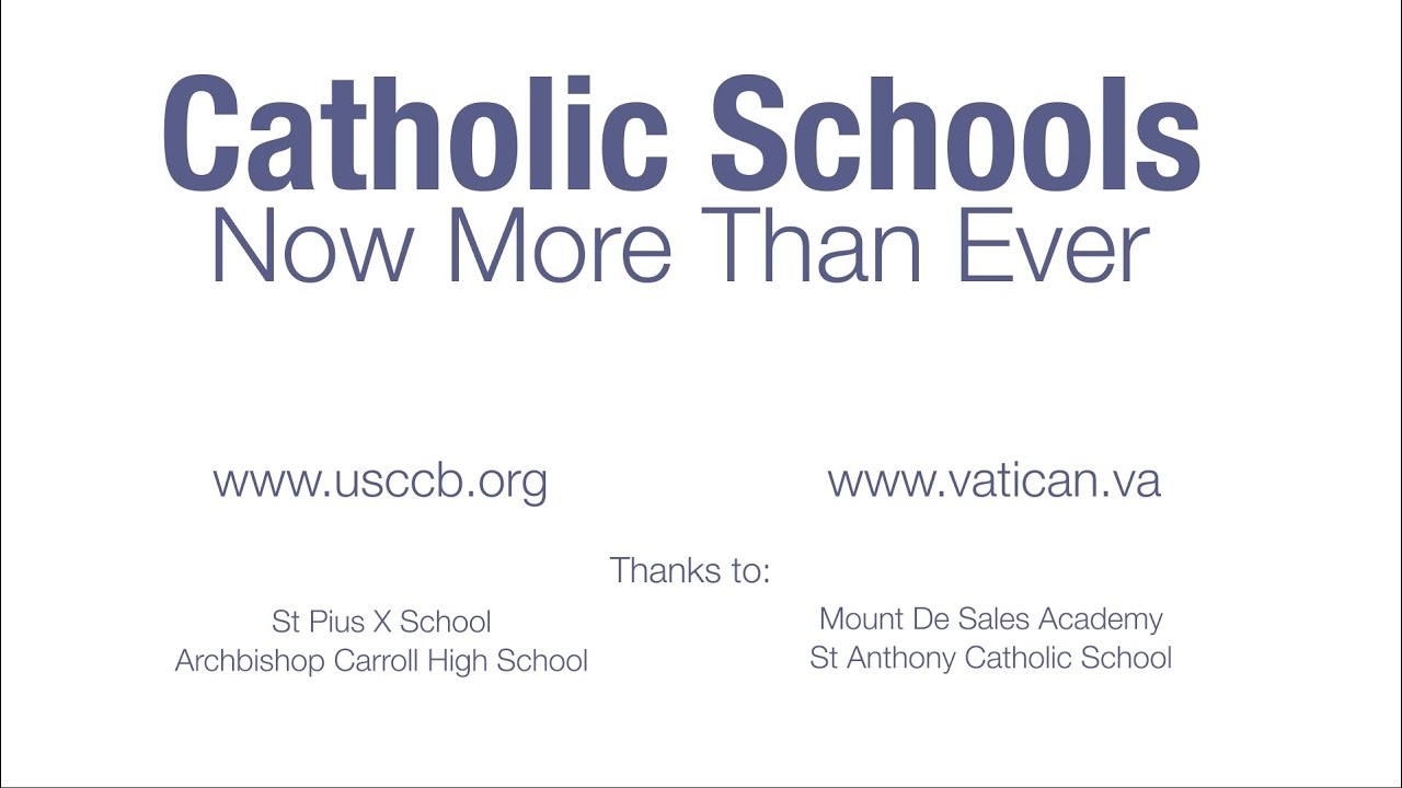 Catholic Schools | Now More Than Ever