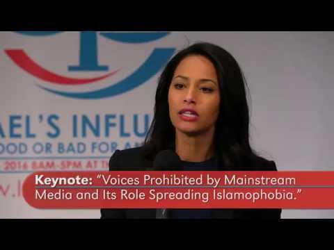 "KEYNOTE: ""Voices prohibited by mainstream media and its role spreading Islamophobia"" Rula Jebreal"