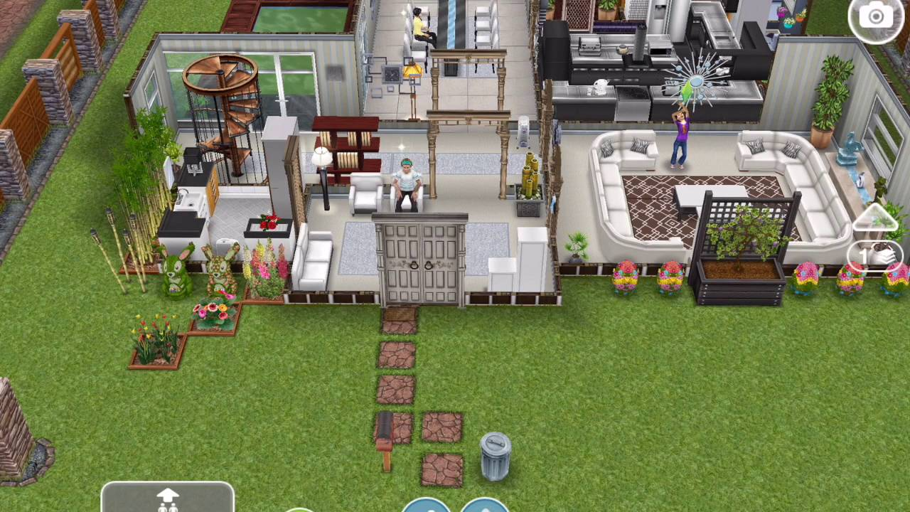 Sims Freeplay: Multi Story Architect House / Mansion Tour (Request)    YouTube