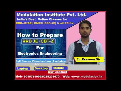 How to Prepare  RRB-JE (CBT-2) for Electronics and Communication Engineering