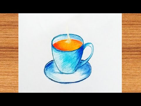 how to draw a coffee cup 2021 || Drawing Ideas || Only Drawing