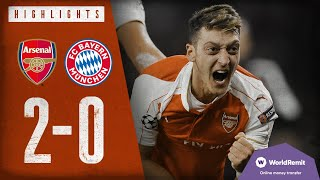 Arsenal 2-0 Bayern Munich | Arsenal Classics | Champions League highlights | 2015