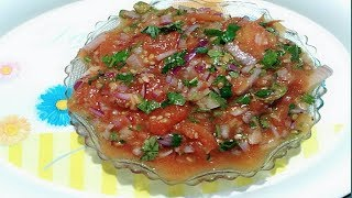 स्वादिष्ट टमाटर की चटनी/चोखा,Tamatar ki chutney  North Indian Cuisine Recipe-Tomato chutney