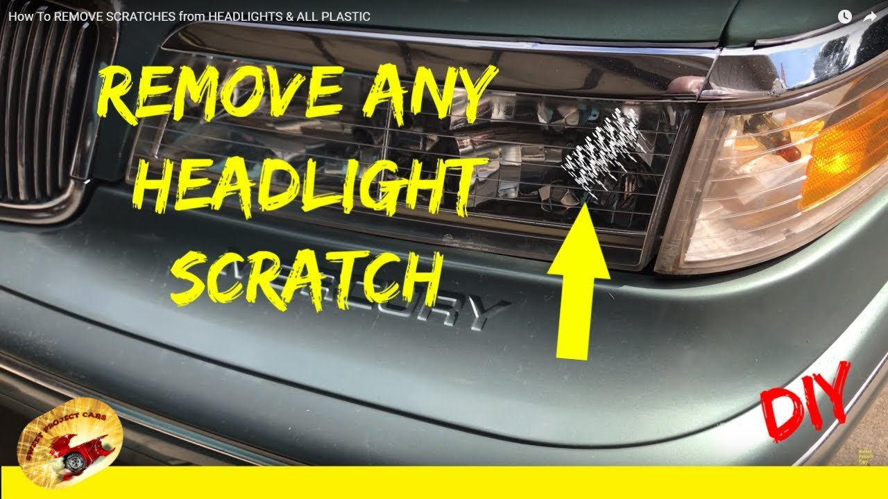 how to remove scratches from headlights all plastic youtube. Black Bedroom Furniture Sets. Home Design Ideas