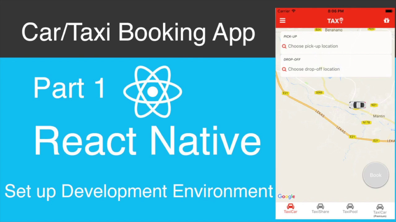 React Native Car/Taxi Booking App Part 1 - Development Environment
