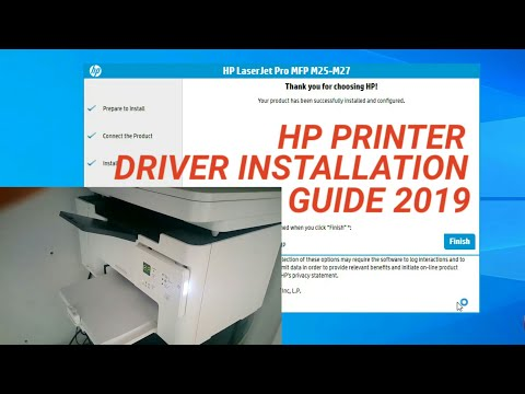 HP LaserJet Pro MFP M25 M26 M27 Driver Installation On Windows Guide 2019