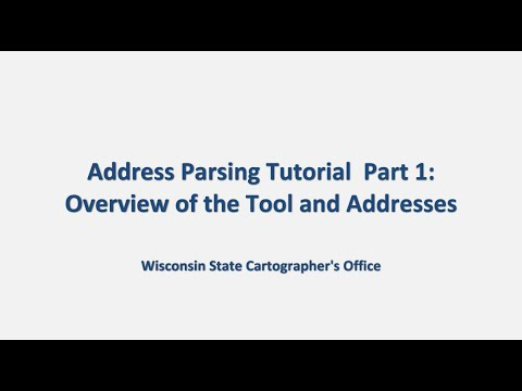 Address Parse Tool-Part1