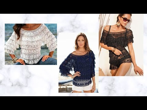 crochet tutorial blusa salsa/how to bluse (subtitles several lenguage)