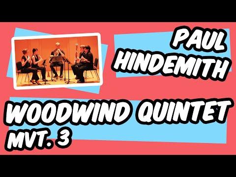 Paul Hindemith: Kleine Kammermusik Op. 24 No. 2 Mvt. 3 - Noctua Wind Quintet