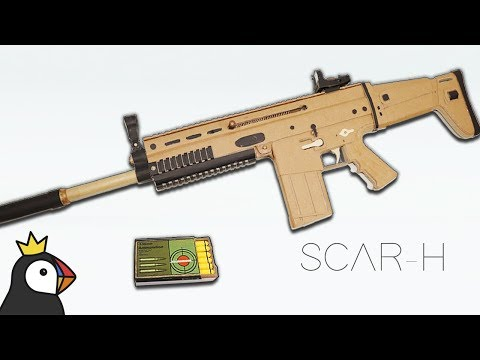 How To Make FN-SCAR From Cardboard - Work & Disassembly