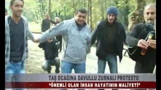 KOCAELİ TV - TAŞ OCAĞINA DAVULLU ZURNALI PROTESTO