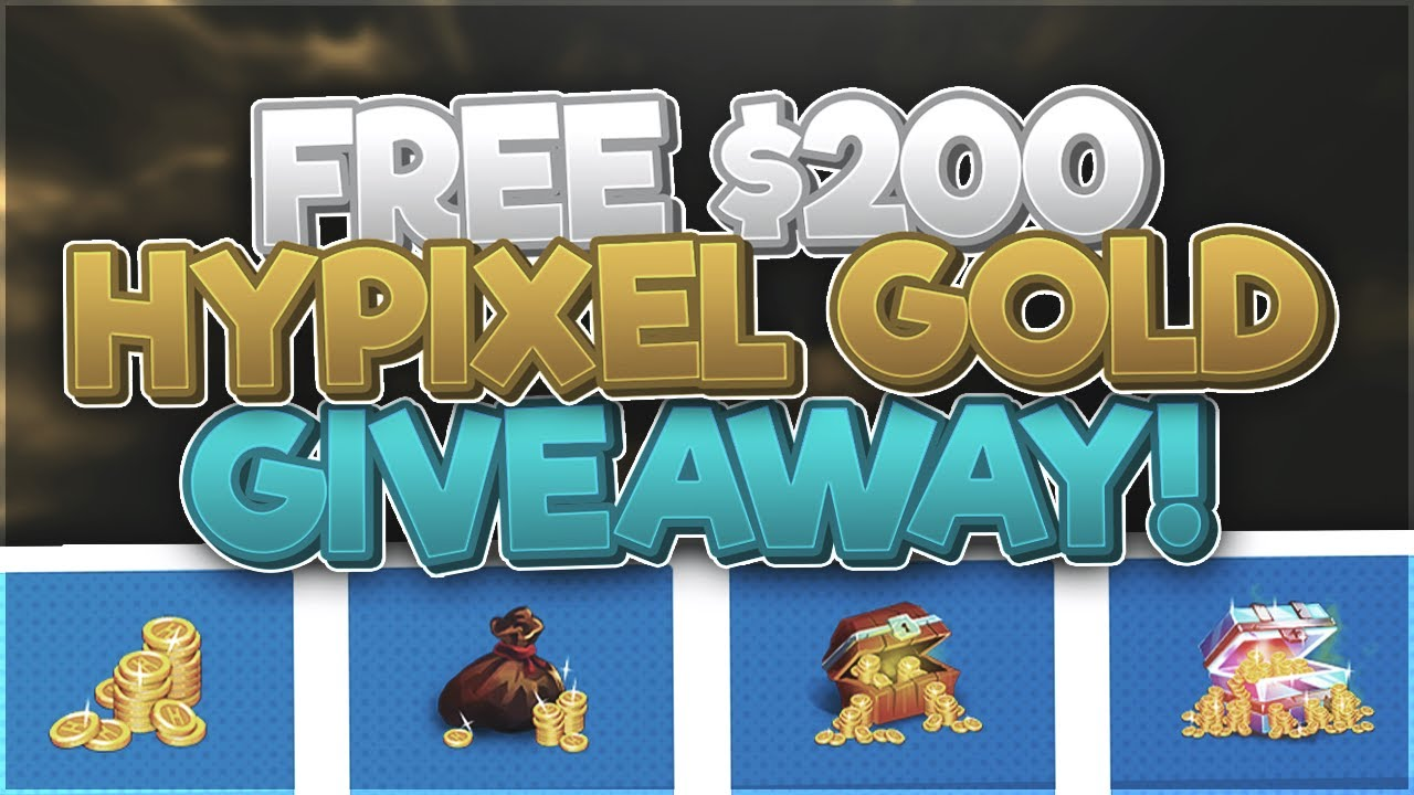 FREE Hypixel GOLD Giveaway (MVP+ / MVP++ Rank, Boosters or Anything) [OPEN JULY 2020]