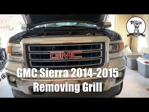 Gmc Sierra 2014 2015 Removing The Grill Youtube