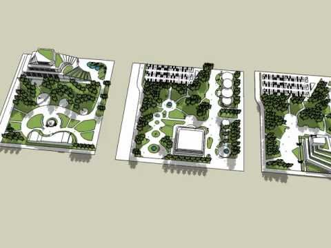 landscape architects garden design sketchup YouTube