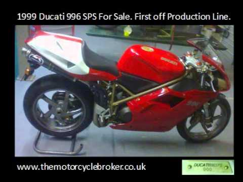 1999 ducati 996 sps for sale first off production line - youtube