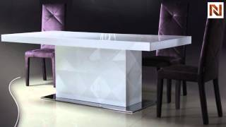 Eva - White Lacquer Modern Dining Table Vgdvls201b From Vig Furniture