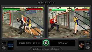 Virtua Fighter 3tb (Arcade vs Dreamcast) Side by Side Comparison I Vc Decide