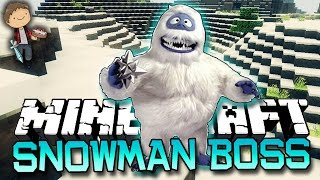 Minecraft: ABOMINABLE SNOWMAN BOSS! MYSTERY CHALLENGE OF GLISTON! w/Mitch & Jerome!