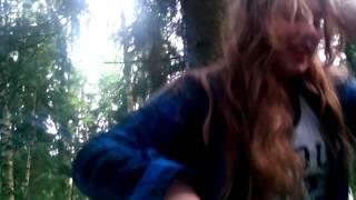 Бухая в лесу