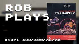 """Star Raiders"" on Atari 8-bit (50fps Real Hardware) - Rob Plays 3.08"