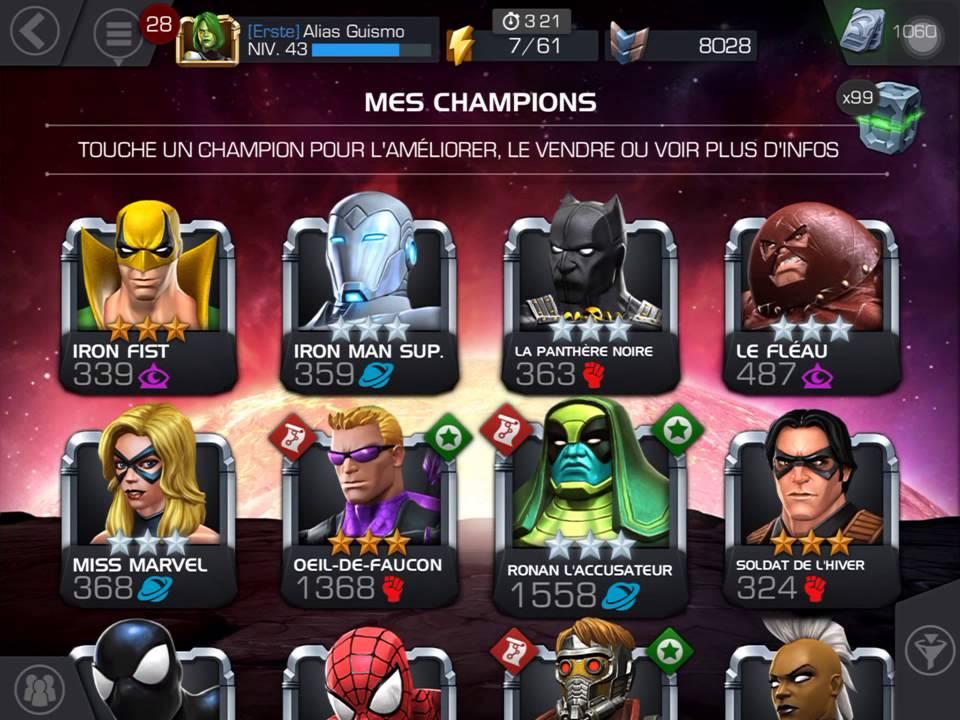 Marvel tournoi des champion tuto 1 les champions youtube - Tous les personnages de violetta ...