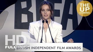 Felicity Jones receives Variety Award for global impact at BIFAs 2018