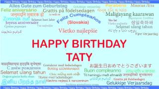 Taty   Languages Idiomas - Happy Birthday