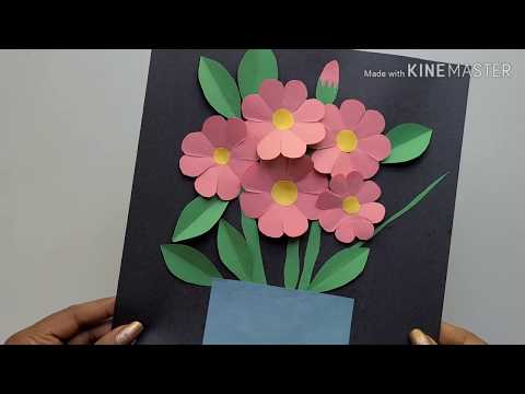 how-to-make-diy-construction-paper-craft:-flowers-in-a-vase
