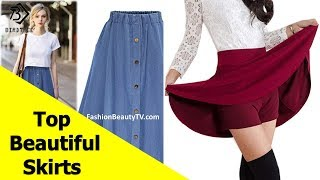 Top 50 beautiful skirts, pencil skirts and best skirts for ladies S2