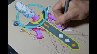 Drawing Whis from Dragon Ball Super - With Color Pencils