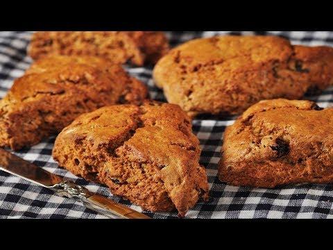 Gingerbread Scones Recipe Demonstration - Joyofbaking.com