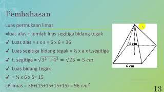 pembahasan contoh 2 luas permukaan limas