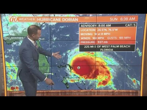 Hurricane Dorian becomes a 'catastrophic' Category 5 storm | 10Weather WTSP